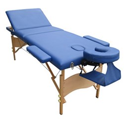 AlphaSport Portable Massage Table with Lift Up Back