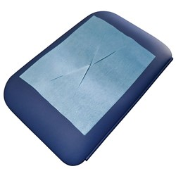 Physiopads Head Pads X Cut Blue (Carton of 700)