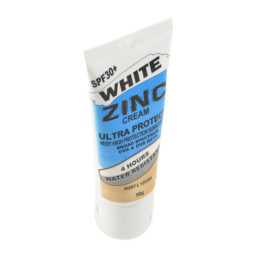 Zinc Cream White 50g Tube 30+ 4hr Water Resistant