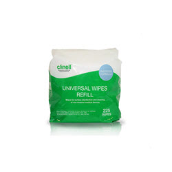 Clinell Universal Wipes Bucket Refill (225)