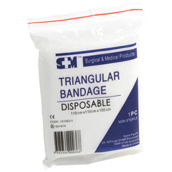 Triangular Bandage Disposable 110 x 110 x 155cm