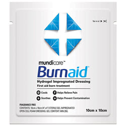 Burnaid Burn Gel Dressing Pad 10cm x 10cm