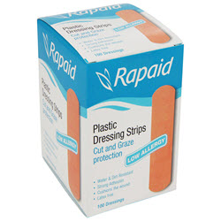 Rapaid Hypoallergenic Plastic Strips (100) Latex Free