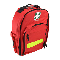 First Aid Back Pack Red Empty