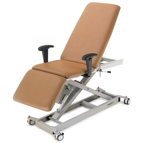 Healthtec Lynx Podiatry Chair with seat lift and castors