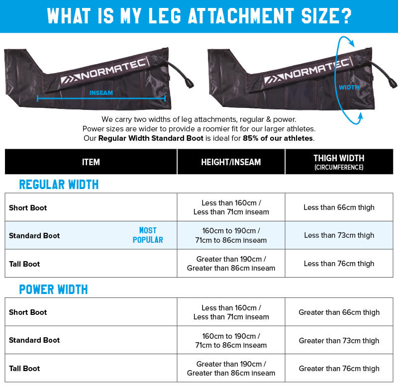 Normatec Boot Sizing